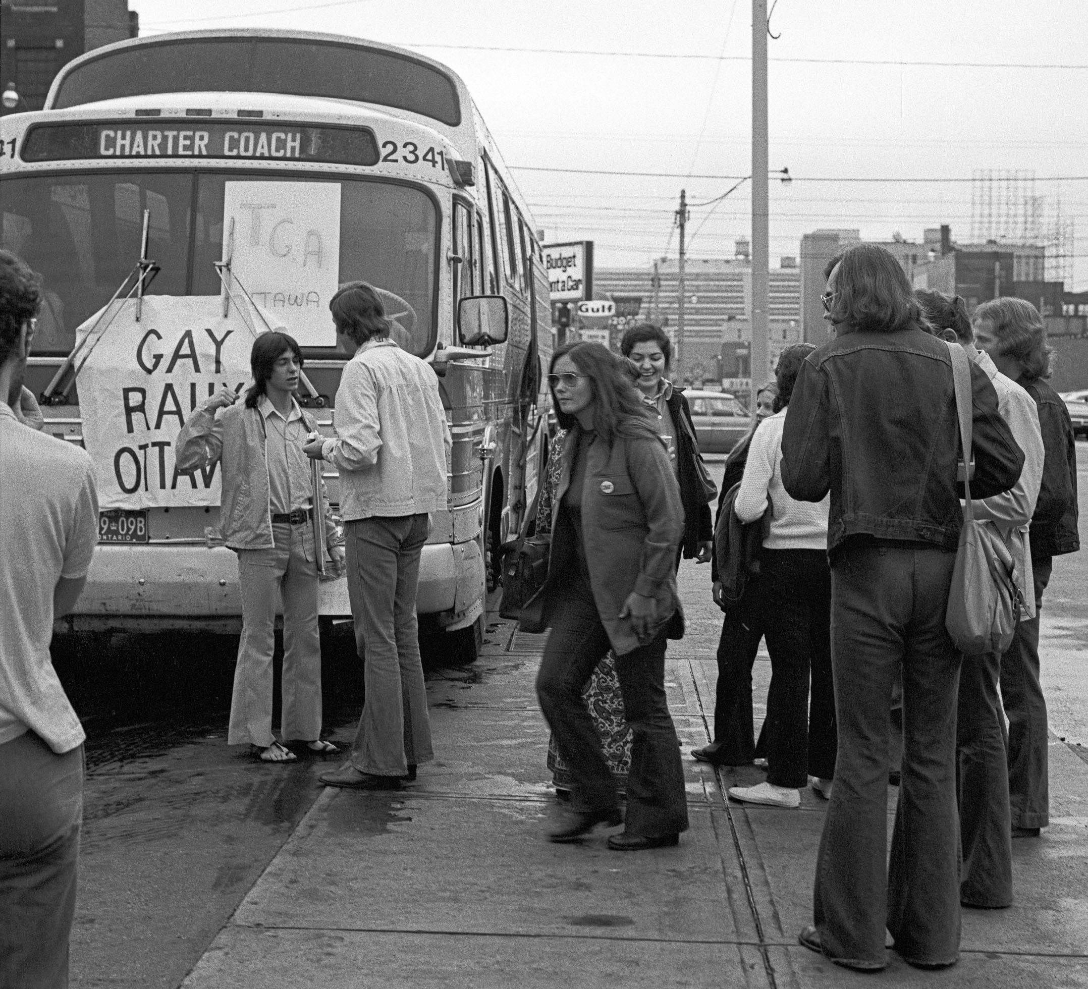 Ottawa Demo August 28th, 1971 - 1 Getting On the Bus in Toronto