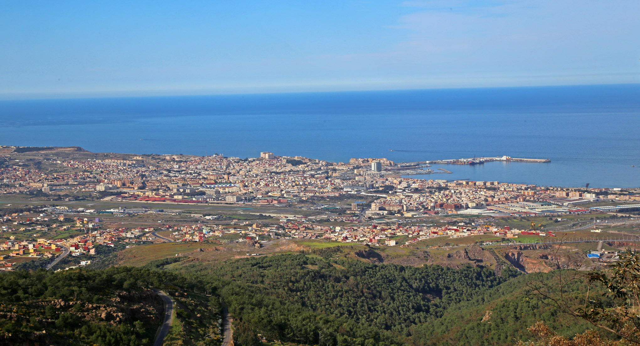 View of Melilla from Mt. Gourougou - 1