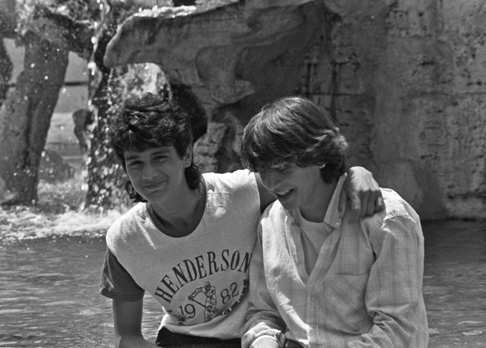 At the Trevi Fountain, Rome, 1988