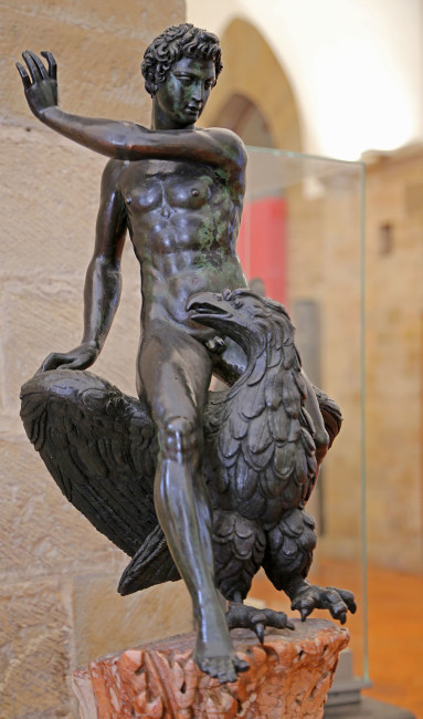 Zeus and Ganymede, Bargello, Firenze